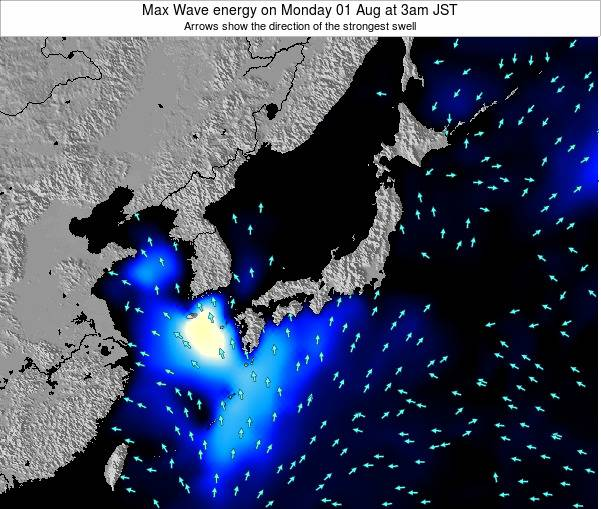 Japan Max Wave energy on Thursday 24 Jul at 9pm JST