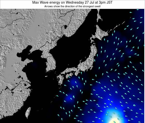Japan Max Wave energy on Friday 24 May at 9am JST