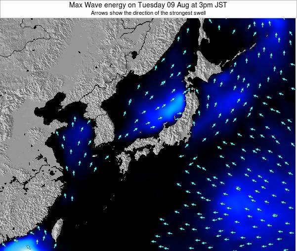 Japan Max Wave energy on Thursday 30 Jun at 3pm JST