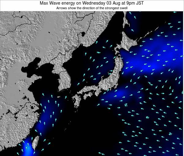Japan Max Wave energy on Thursday 02 Jun at 3pm JST