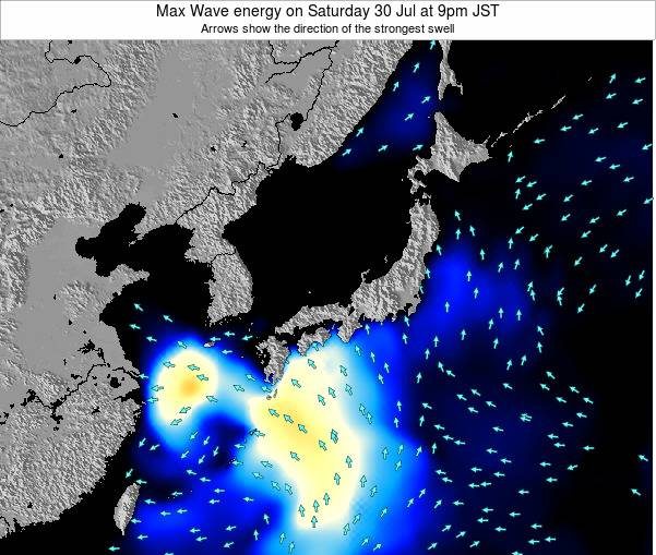 Japan Max Wave energy on Saturday 26 Apr at 9am JST