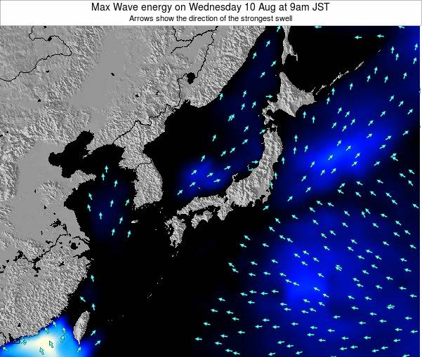 Japan Max Wave energy on Saturday 26 Jul at 3am JST