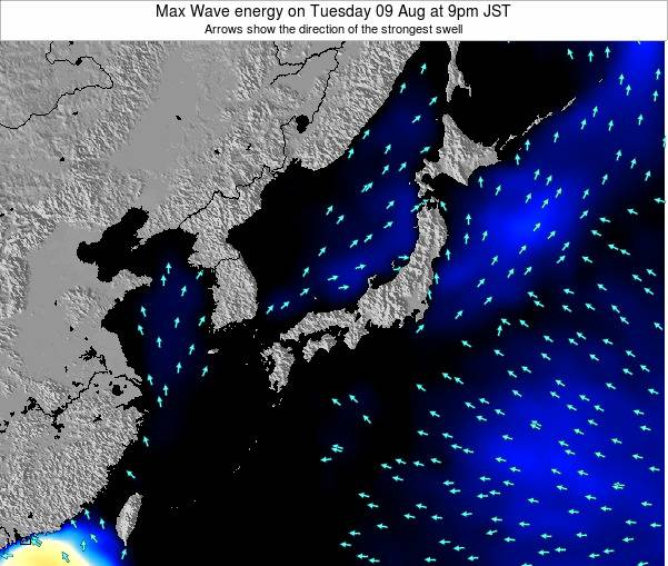 Japan Max Wave energy on Wednesday 23 Apr at 3am JST