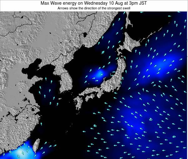 Japan Max Wave energy on Tuesday 29 Jul at 9am JST