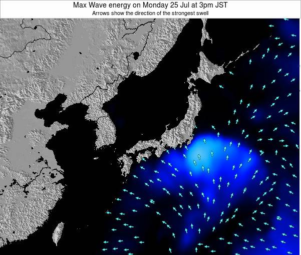 Japan Max Wave energy on Thursday 05 Mar at 3pm JST