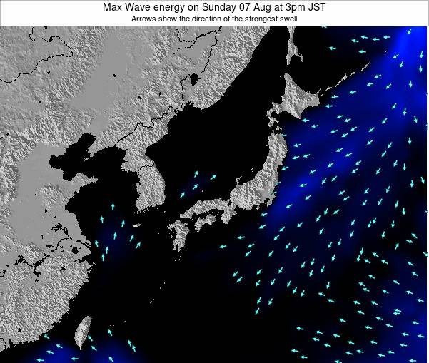 Japan Max Wave energy on Sunday 27 Apr at 3am JST