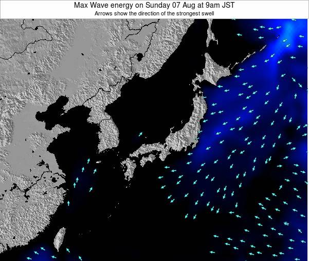 Japan Max Wave energy on Wednesday 11 Dec at 3am JST