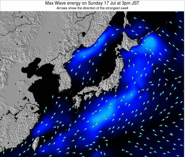 Japan Max Wave energy on Friday 27 Apr at 9pm JST map