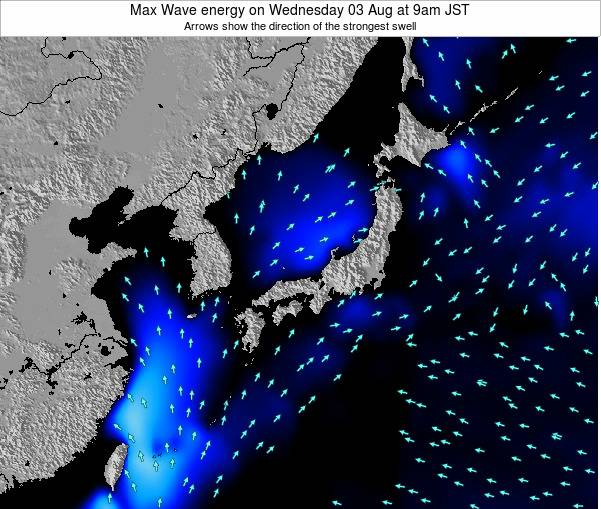 Japan Max Wave energy on Monday 28 Apr at 9pm JST