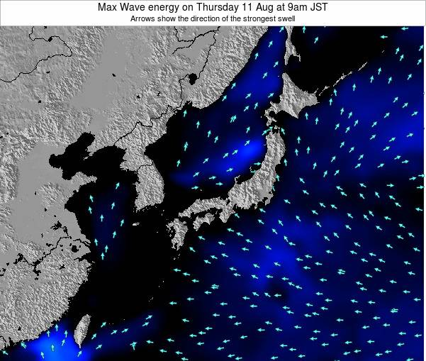 Japan Max Wave energy on Sunday 27 Jul at 3am JST