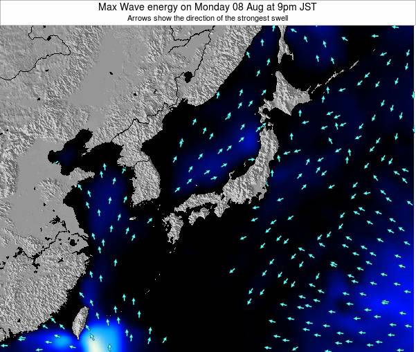 Japan Max Wave energy on Friday 14 Mar at 3pm JST