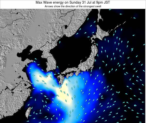 Japan Max Wave energy on Monday 04 Aug at 9am JST
