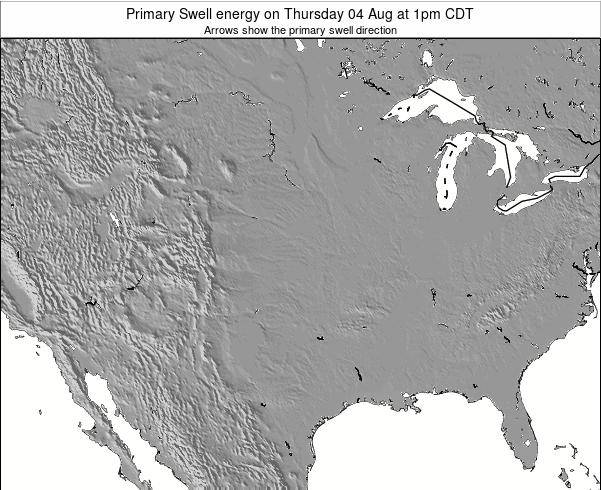 Oklahoma Primary Swell energy on Wednesday 20 Mar at 1am CDT map