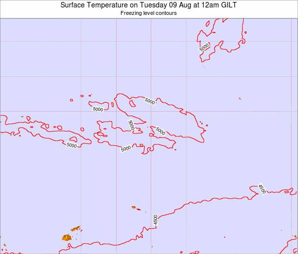 Kiribati Surface Temperature on Wednesday 01 Apr at 6pm GILT