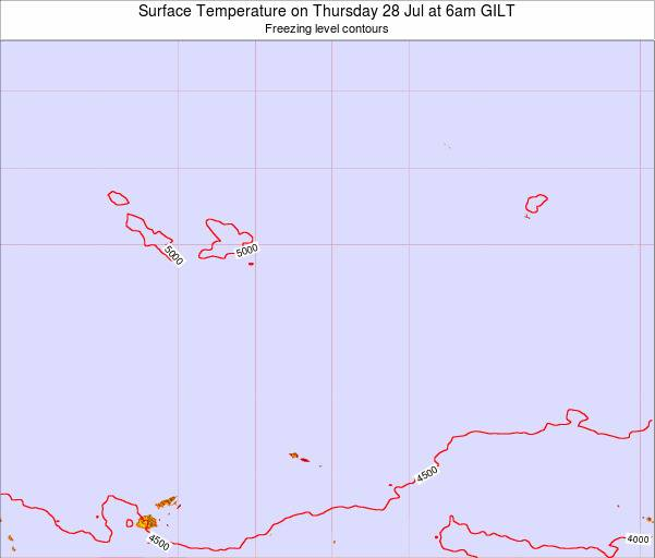 Kiribati Surface Temperature on Tuesday 17 Dec at 6am GILT