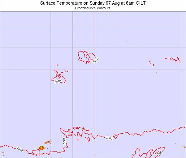 Kiribati Surface Temperature on Friday 25 Apr at 12am GILT