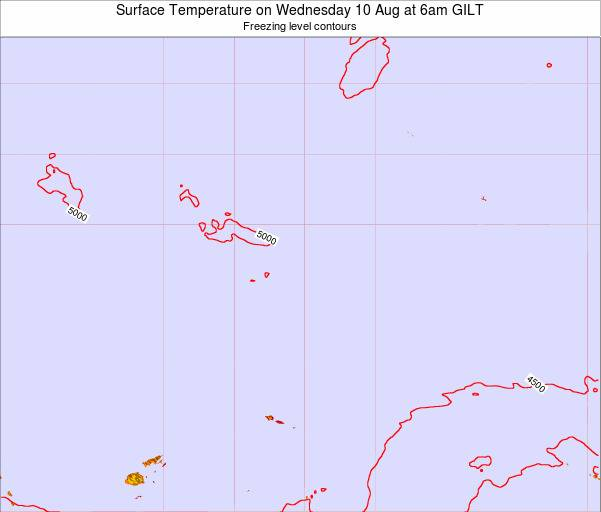Kiribati Surface Temperature on Thursday 28 Jun at 12am GILT map