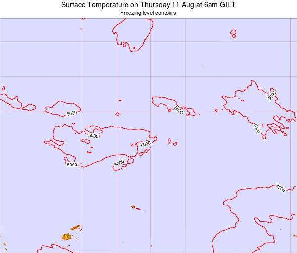Kiribati Surface Temperature on Sunday 26 May at 12am GILT map