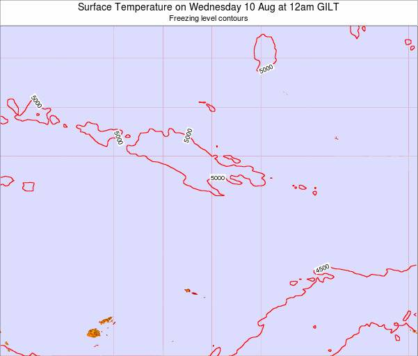Kiribati Surface Temperature on Thursday 04 Jun at 6pm GILT