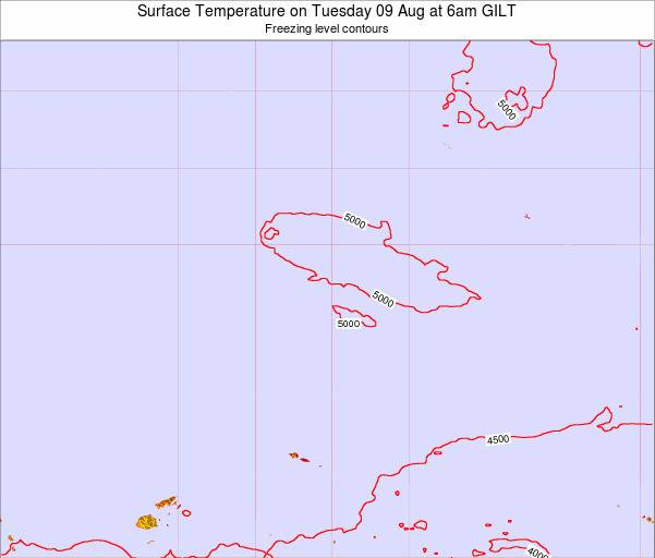 Kiribati Surface Temperature on Monday 28 Apr at 12pm GILT