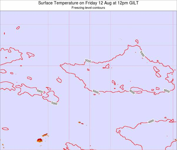 Kiribati Surface Temperature on Saturday 14 Dec at 6pm GILT