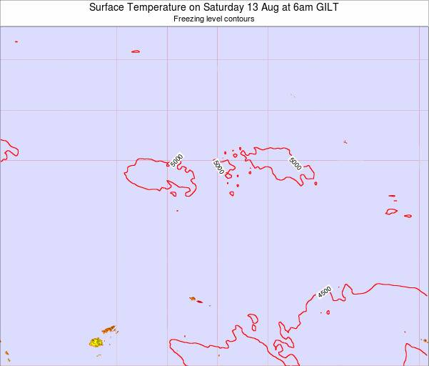Kiribati Surface Temperature on Sunday 22 Jan at 6am GILT