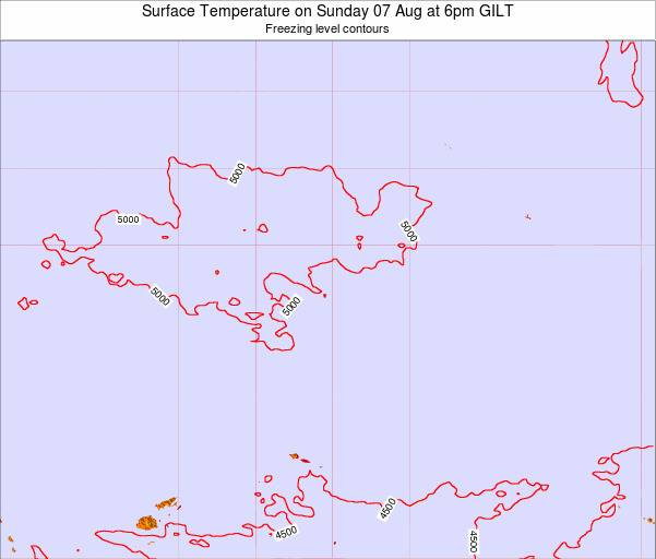 Kiribati Surface Temperature on Friday 31 May at 6am GILT map