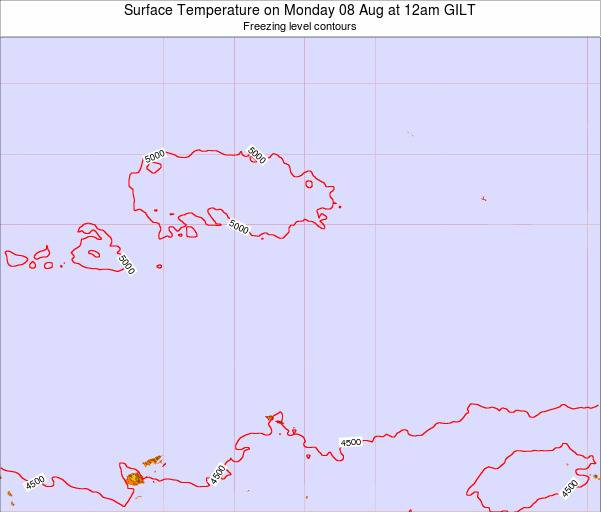 Kiribati Surface Temperature on Friday 25 Apr at 6pm GILT