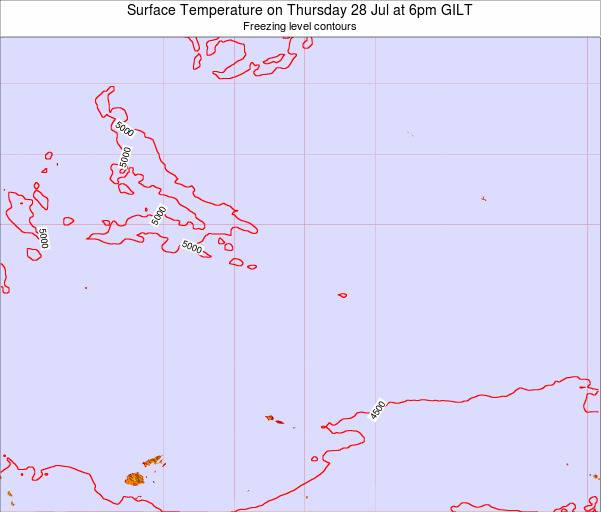 Kiribati Surface Temperature on Thursday 31 Jul at 12pm GILT