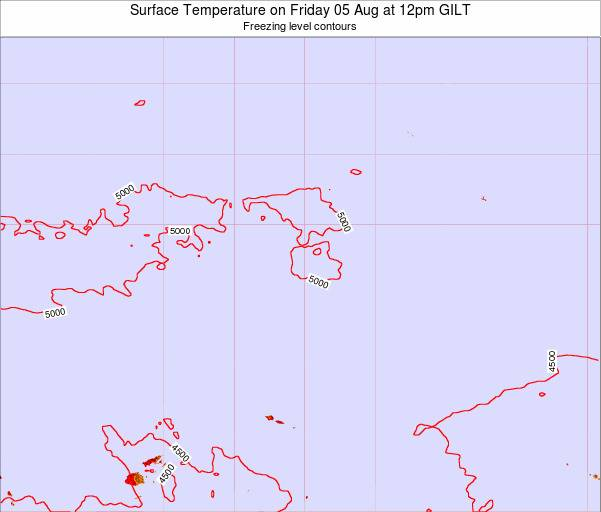 Kiribati Surface Temperature on Thursday 07 Jul at 12am GILT