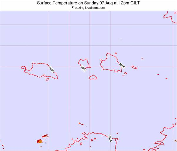 Kiribati Surface Temperature on Monday 27 May at 6am GILT map