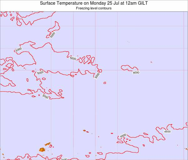 Kiribati Surface Temperature on Sunday 01 Jul at 12pm GILT map