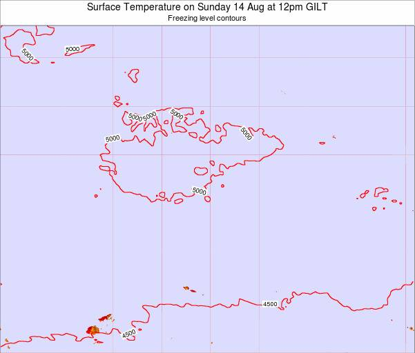 Kiribati Surface Temperature on Thursday 31 Jan at 12am GILT map