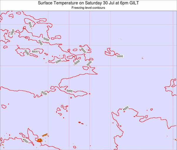 Kiribati Surface Temperature on Wednesday 29 May at 12pm GILT map