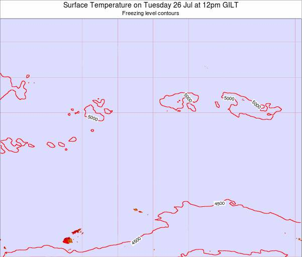 Kiribati Surface Temperature on Wednesday 27 Jun at 12pm GILT map