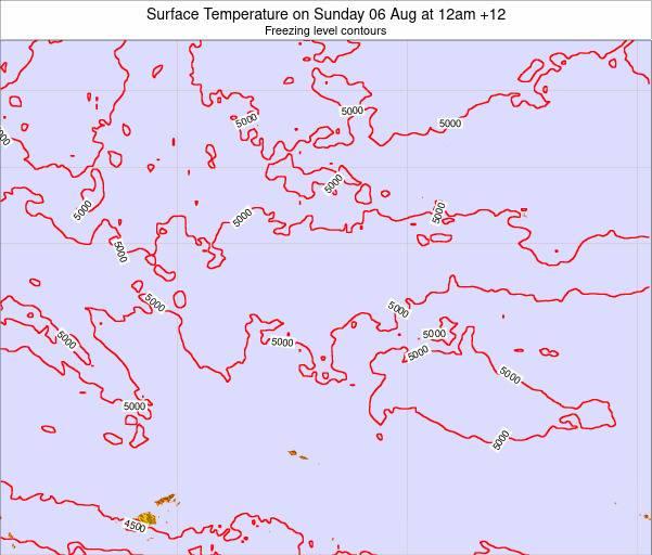 Kiribati Surface Temperature on Friday 16 Nov at 6am GILT map