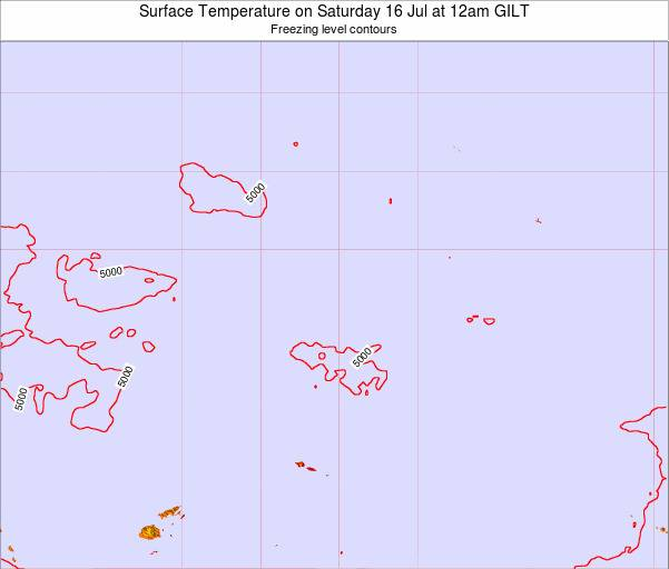 Kiribati Surface Temperature on Wednesday 23 Jan at 6am GILT map