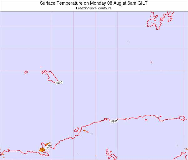 Kiribati Surface Temperature on Wednesday 22 May at 6pm GILT map