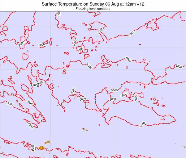 Kiribati Surface Temperature on Friday 19 Oct at 12am GILT map