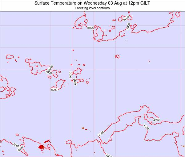 Quiribati Surface Temperature on Sunday 02 Aug at 6pm GILT