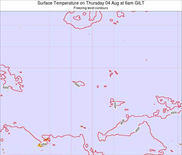 Kiribati Surface Temperature on Thursday 13 Mar at 12am GILT