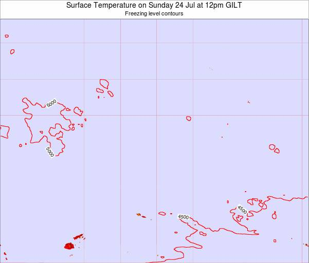 Kiribati Surface Temperature on Thursday 21 Aug at 12am GILT
