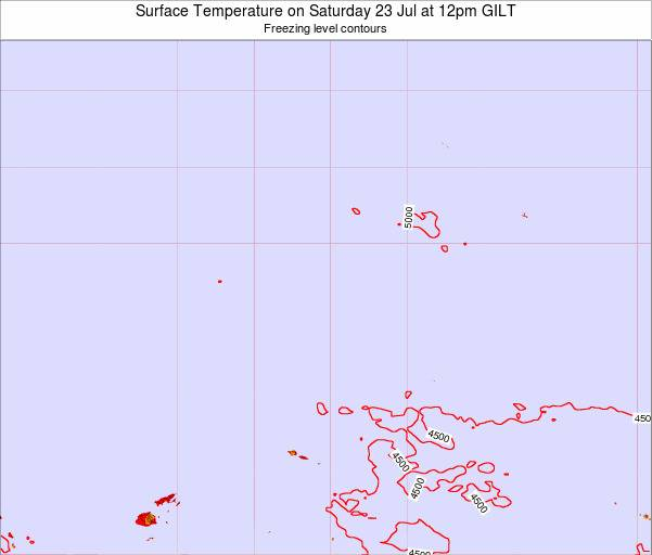 Kiribati Surface Temperature on Thursday 16 Aug at 6pm GILT map