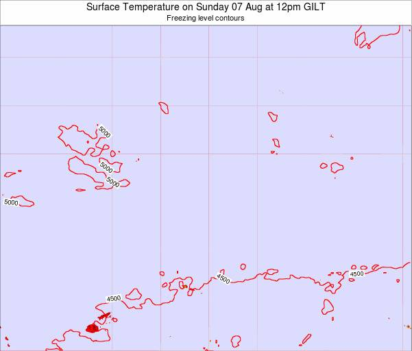 Kiribati Surface Temperature on Monday 10 Mar at 6am GILT