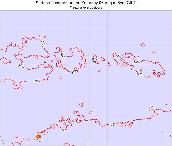 Kiribati Surface Temperature on Sunday 27 Jul at 12am GILT