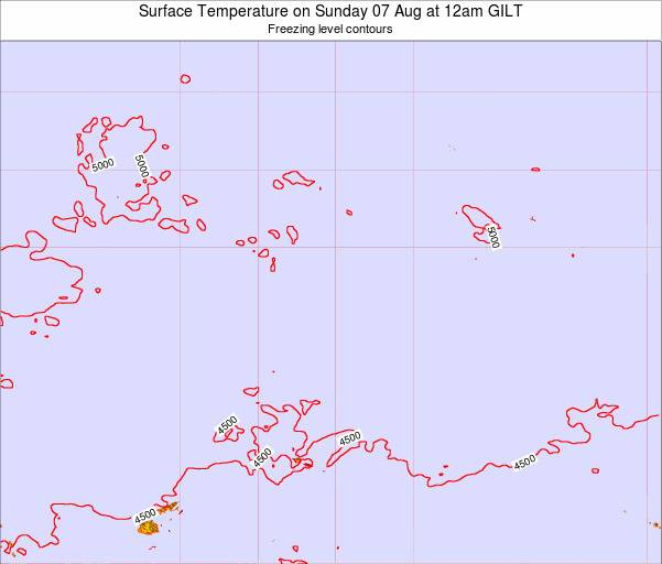 Kiribati Surface Temperature on Wednesday 30 Jul at 12pm GILT
