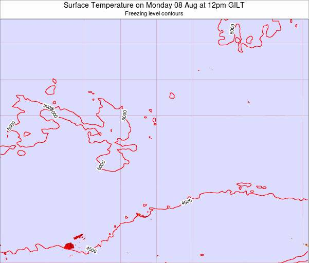 Kiribati Surface Temperature on Wednesday 22 May at 12pm GILT