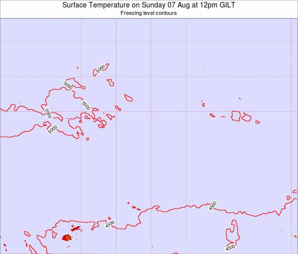Kiribati Surface Temperature on Friday 21 Jun at 12pm GILT map