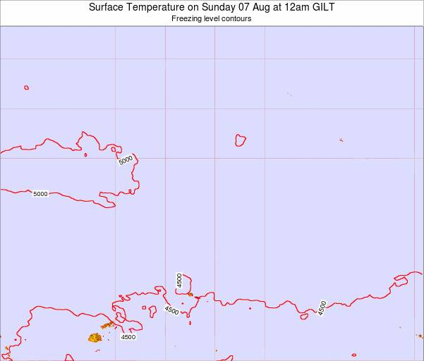 Kiribati Surface Temperature on Saturday 26 Apr at 6am GILT