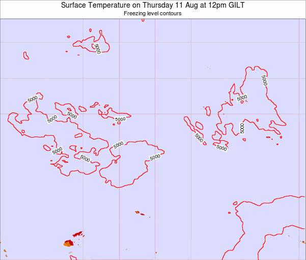 Kiribati Surface Temperature on Thursday 30 Apr at 12pm GILT